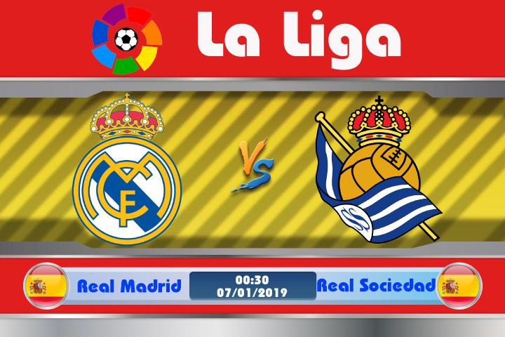 Soi kèo Real Madrid vs Real Sociedad 00h30 ngày 07/01: Thánh địa tử thần