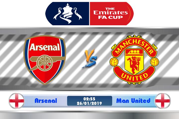 Soi kèo Arsenal vs Manchester United 02h55 ngày 26/01: Duyệt đại pháo