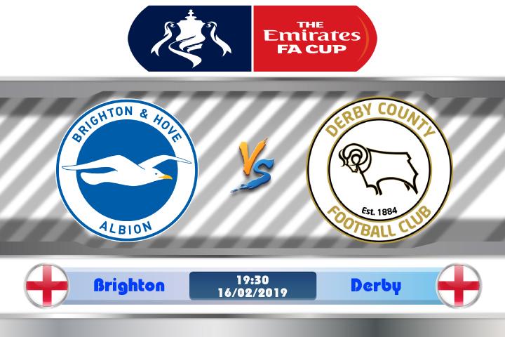 Soi kèo Brighton vs Derby 19h30 ngày 16/02: Không thể khinh suất