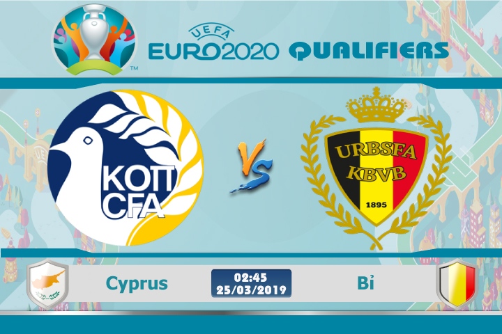 Soi kèo Euro Cyprus vs Bỉ 02h45 ngày 25/03: Không hẹn mà gặp