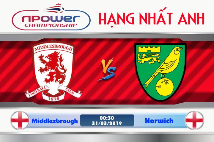 Soi kèo Middlesbrough vs Norwich 00h30 ngày 31/03: Gọi tên Hoàng Yến