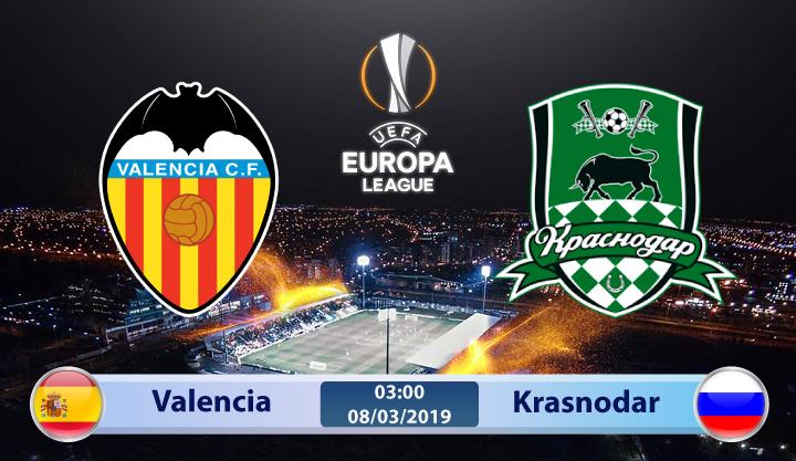 Soi kèo Valencia vs Krasnodar 03h00 ngày 08/03: Nạn nhân xứ khác