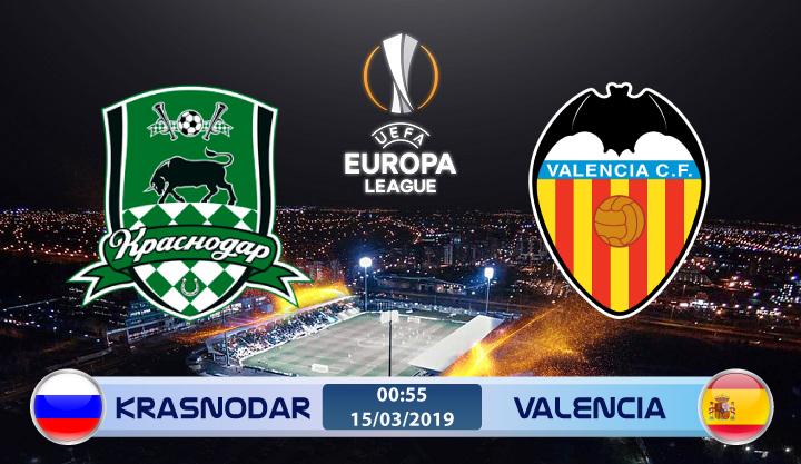 Soi kèo Krasnodar vs Valencia 00h55 ngày 15/03: Duy trì lợi thế