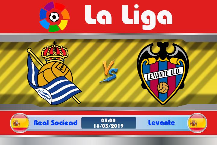 Soi kèo Real Sociedad vs Levante 03h00 ngày 16/03: Liều thuốc trấn an