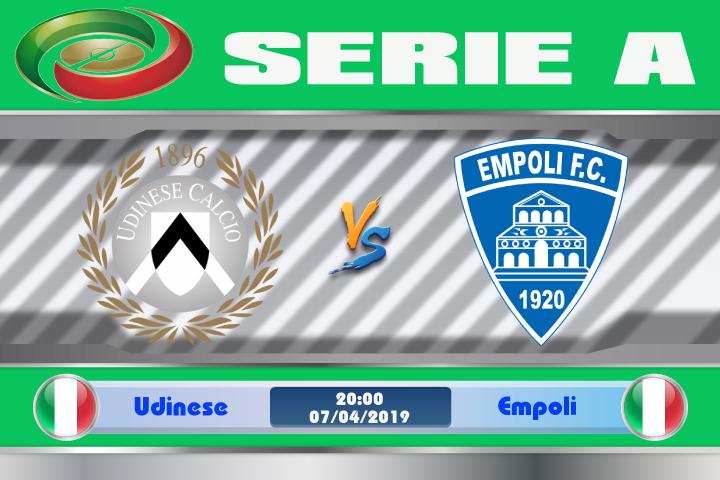 Soi kèo Udinese vs Empoli 20h00 ngày 07/04: Yếu kém khi phải xa nhà