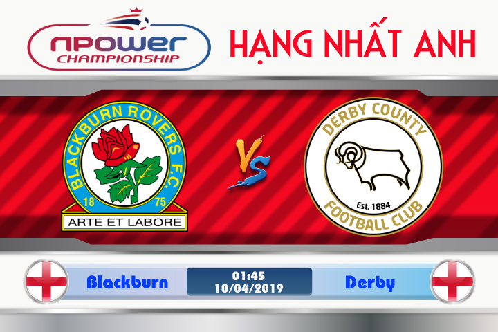 Soi kèo Blackburn vs Derby 01h45 ngày 10/04: Thế trận khó lường