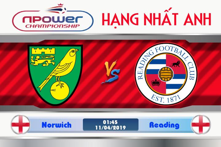 Soi kèo Norwich vs Reading 01h45 ngày 11/04: Tiếp đà thăng hoa