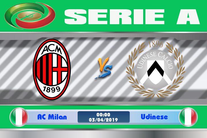 Soi kèo AC Milan vs Udinese 00h00 ngày 03/04: Tệ hại khi phải xa nhà