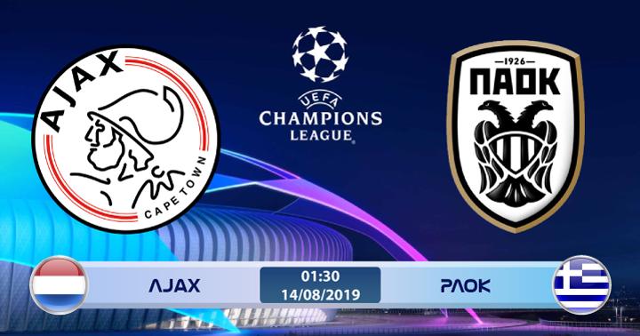 Soi kèo Ajax vs PAOK 01h00 ngày 14/08: Quá khứ có tái diễn?