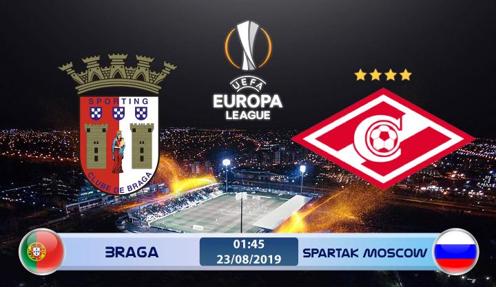 Soi kèo Braga vs Spartak Moscow 01h45 ngày 23/08: Tựa lưng vào Braga
