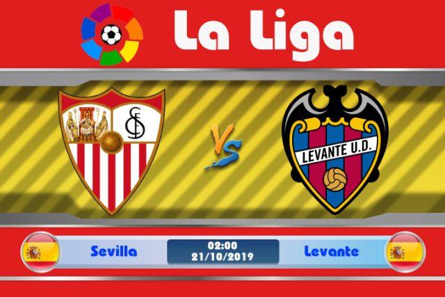 Soi kèo Sevilla vs Levante 02h00 ngày 21/10: Đòi lại 3 điểm