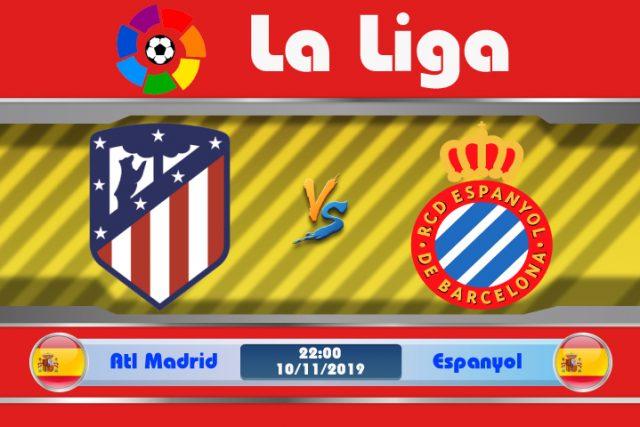 Soi kèo Atletico Madrid vs Espanyol 22h00 ngày 10/11: Lo âu giải Quốc Nội