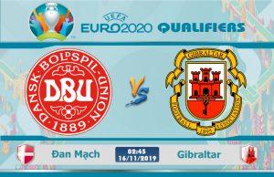 Soi kèo Euro Đan Mạch vs Gibraltar 02h45 ngày 16/11: Giành lấy ngôi đầu