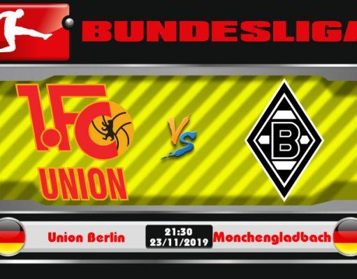 Soi kèo Union Berlin vs Monchengladbach 21h30 ngày 23/11: Duy trì ngôi đầu