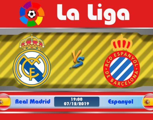 Soi kèo Real Madrid vs Espanyol 19h00 ngày 07/12: Kền Kền săn mồi