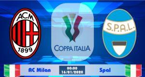 Soi kèo AC Milan vs Spal 00h00 ngày 16/01: Bỏ cuộc từ sớm
