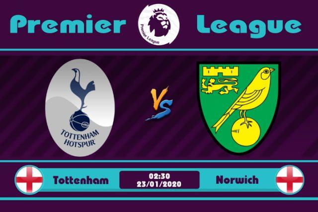 Soi kèo Tottenham vs Norwich 02h30 ngày 23/01: Ngày vui qua mau