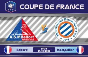 Soi kèo Belfort vs Montpellier 00h30 ngày 29/01: Đẳng cấp chênh lệch