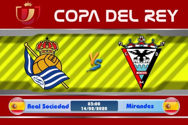 Soi kèo Real Sociedad vs Mirandes 03h00 ngày 14/02: Hoán đổi sân chơi