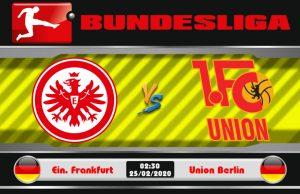 Soi kèo Eintracht Frankfurt vs Union Berlin 02h30 ngày 25/02: Đắc thắng