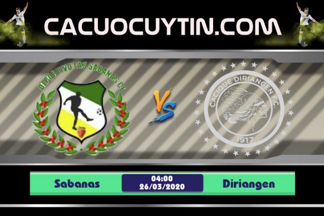 Soi kèo Sabanas vs Diriangen 04h00 ngày 26/03: Bại binh phục hận