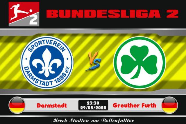 Soi kèo Darmstadt vs Greuther Furth 23h30 ngày 29/05: Bại binh phục hận