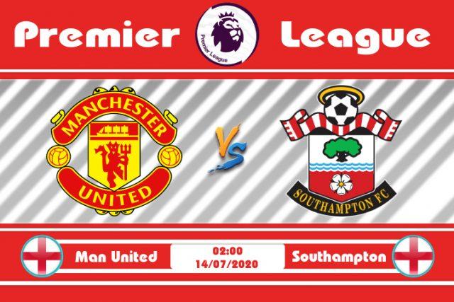 Soi kèo Manchester United vs Southampton 02h00 ngày 14/07: Cờ đã đến tay
