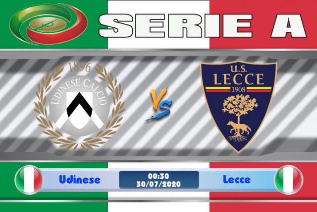 Soi kèo Udinese vs Lecce 00h30 ngày 30/07: Còn nước còn tát