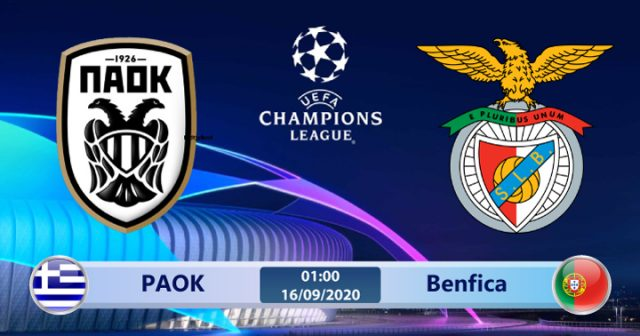 Soi kèo PAOK vs Benfica 01h00 ngày 16/09: Có còn lợi hại