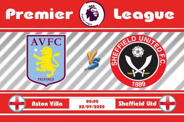Soi kèo Aston Villa vs Sheffield Utd 00h00 ngày 22/09: Chia đều điểm số