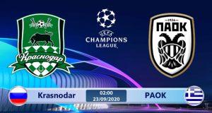 Soi kèo Krasnodar vs PAOK 02h00 ngày 23/09: Vắng bóng thần thánh