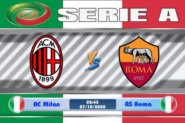 Soi kèo AC Milan vs AS Roma 02h45 ngày 27/10: Thừa thắng xông lên