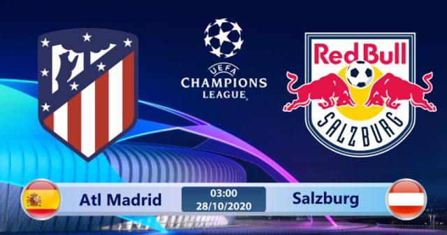 Soi kèo Atletico Madrid vs Salzburg 03h00 ngày 28/10: Cơ hội cho thầy trò Simeone