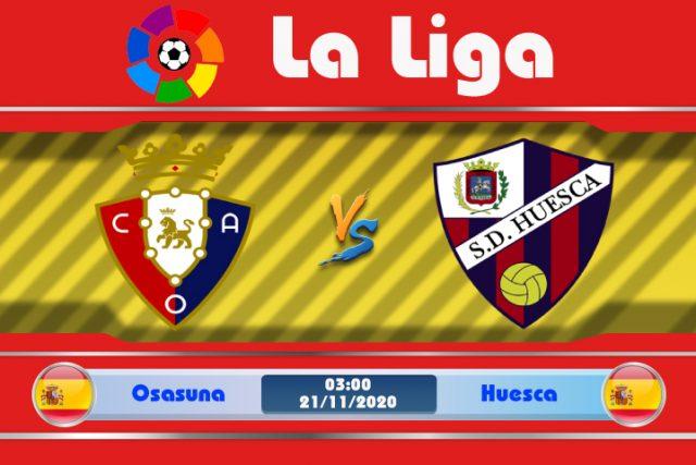 Soi kèo Osasuna vs Huesca 03h00 ngày 21/11: Đối thủ lạ lẫm