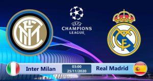 Soi kèo Inter Milan vs Real Madrid 03h00 ngày 26/11: Đại huyết chiến