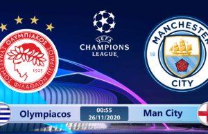 Soi kèo Olympiacos vs Man City 00h55 ngày 26/11: Cuộc chiến không cân sức